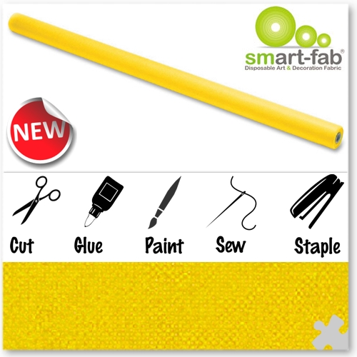 Yellow Smart-Fab Display Fabric
