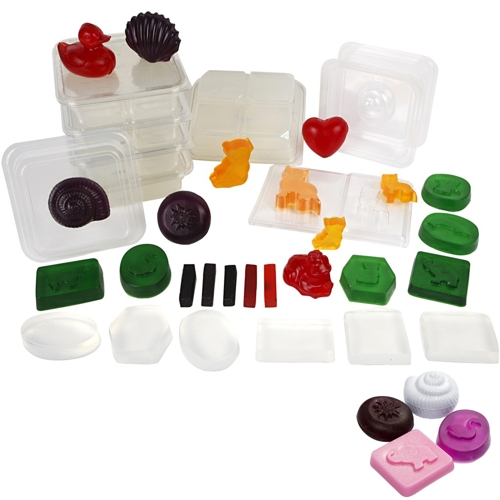 Soap Factory Kit, 15 molds & 5kg of Soap Base