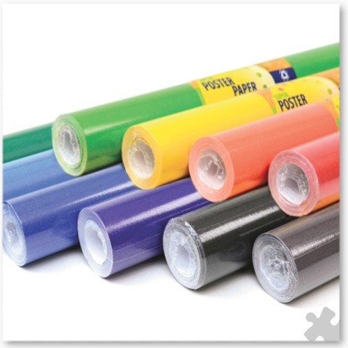 10 Rolls of Poster Paper in Pastel Colours