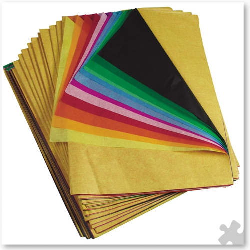 480 Sheet Tissue Paper Pack, 20 colours