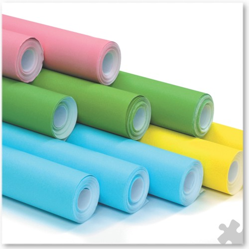 10 Rolls of Poster Paper in Spring Colours