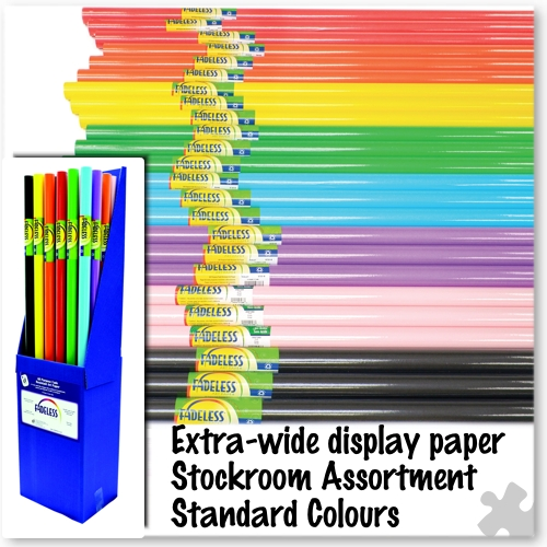 Standard colours Fadeless Display Stockroom Assortment
