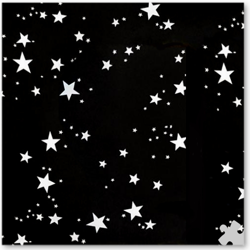 Black With White Stars Patterned Seamless Background