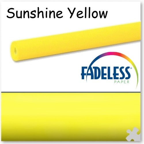 15m Roll of Sunshine Yellow Fadeless Display Paper