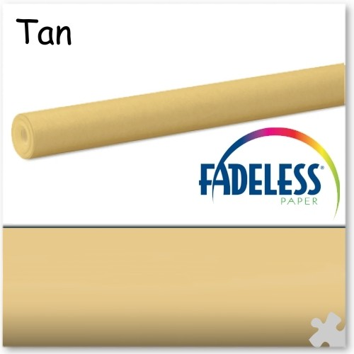 15m Roll of Tan Fadeless Display Paper