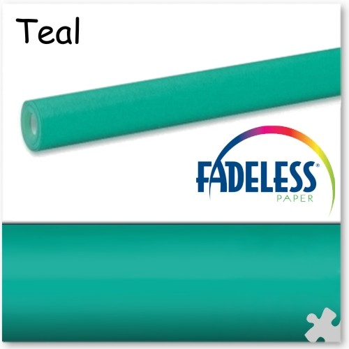 Teal Fadeless Display Paper - 15m Roll