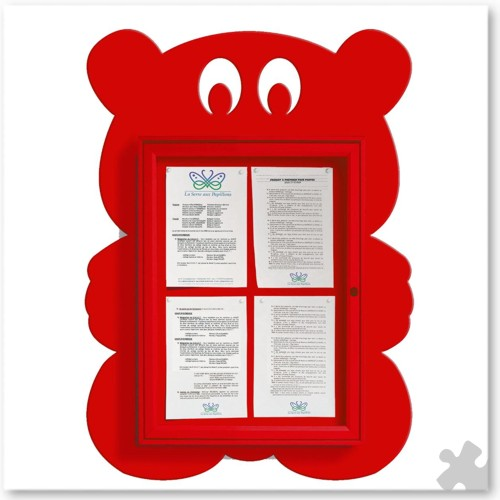 Teddy Bear Shaped Notice Board