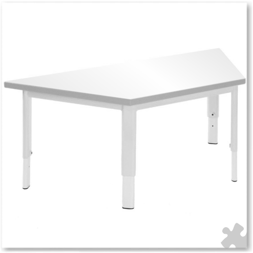 Trapezoidal Whiteboard Adjustable Table