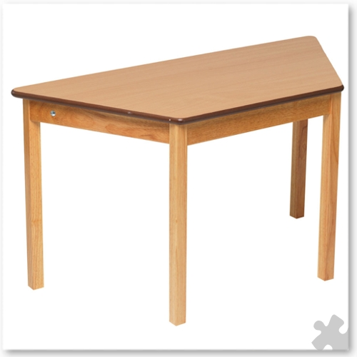Trapezoidal Wooden Table in Beech