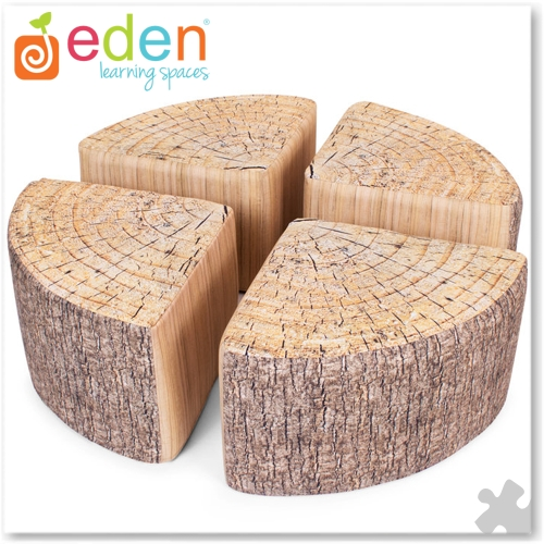 Quarter Footstools with Tree Print