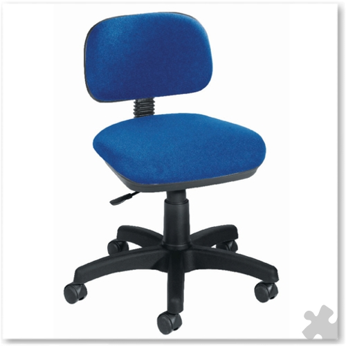 Typist Chair in Blue