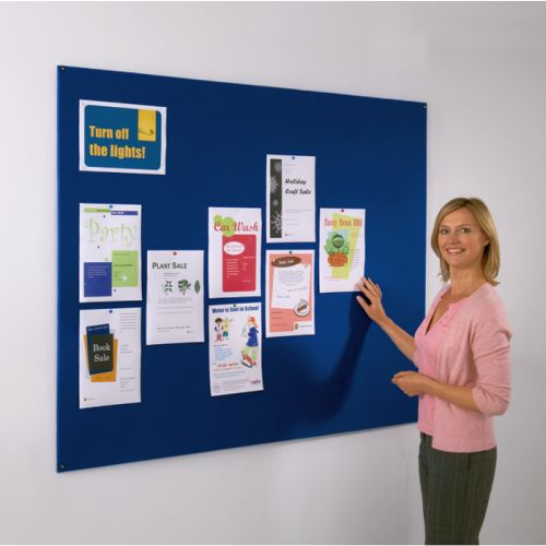 120 x 120cm Frameless Noticeboard - Felt Covered
