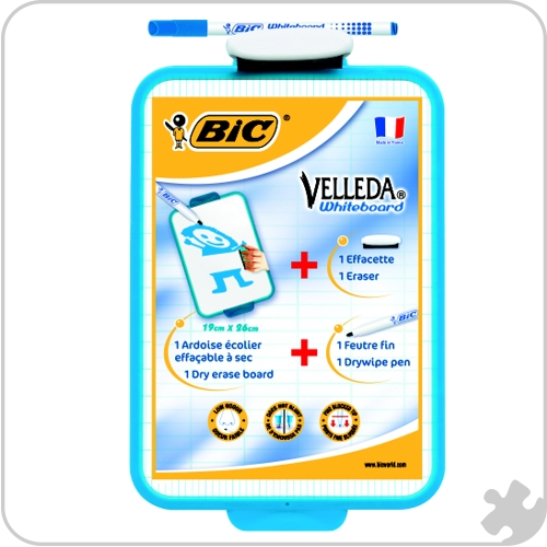 Bic Velleda Double Sided Whiteboard , 19 x 26cm