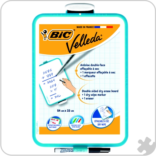 Bic Velleda Double Sided Whiteboard , 24 x 33cm