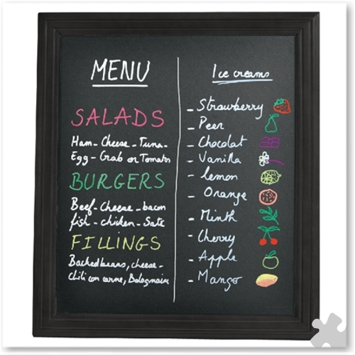 Wall Mounted Chalk Board 40cm x 50cm