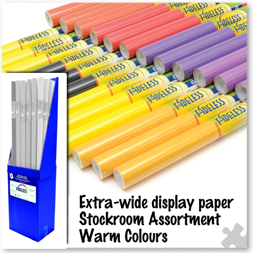 Warm Colours Fadeless Display Stockroom Assortment