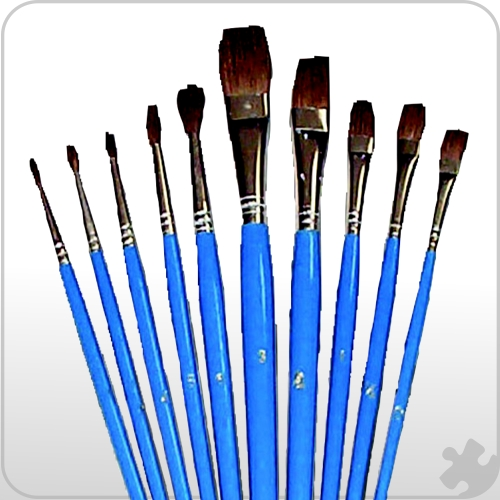 Watercolour Brushes, Set of 10