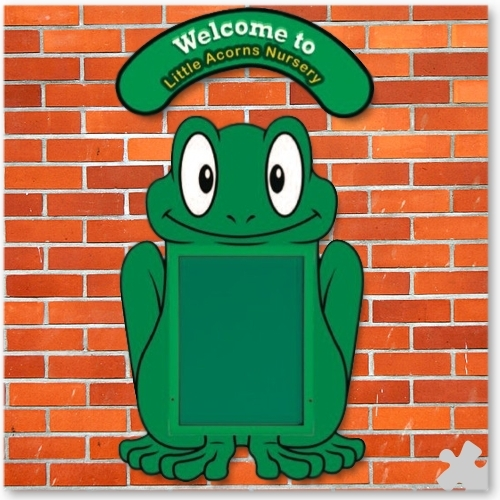 WeatherShield Outdoor Welcome Sign - Frog