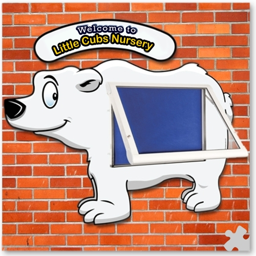WeatherShield Outdoor Welcome Sign - Polar Bear