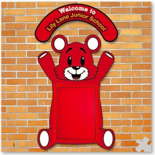 WeatherShield Outdoor Welcome Sign - Teddy Bear