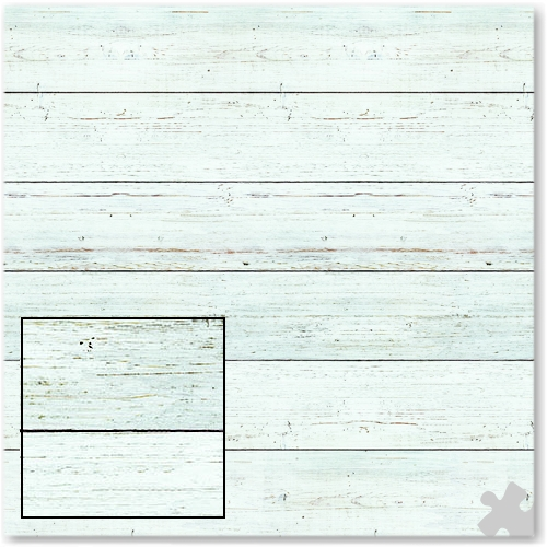 White Shiplap Design Fadeless Display Paper - 3.6m
