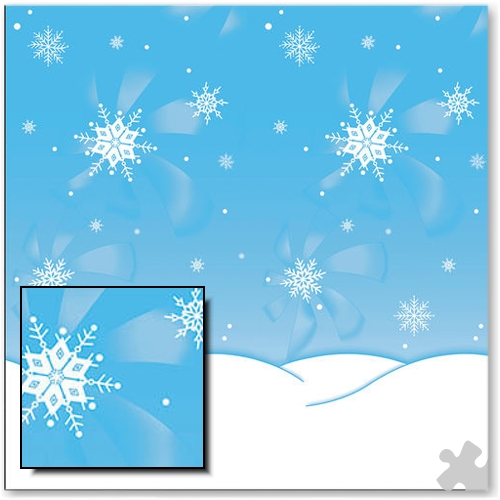 Winter Time Design Fadeless Display Paper - 15m