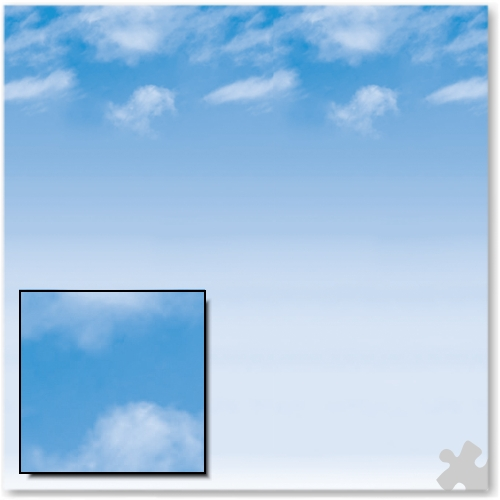 Wispy Clouds Fadeless Display Paper - 15m