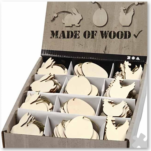 Wooden Easter Ornaments, 200 Assorted