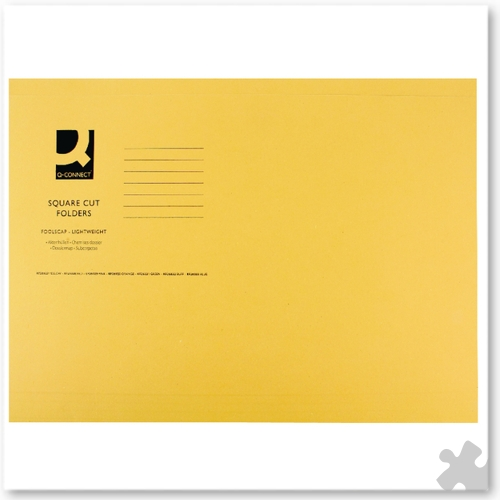 Square Cut Light Weight Folders, 100 Yellow