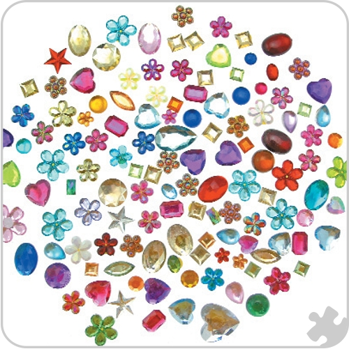 Acrylic Jewels, Large Bag 454g
