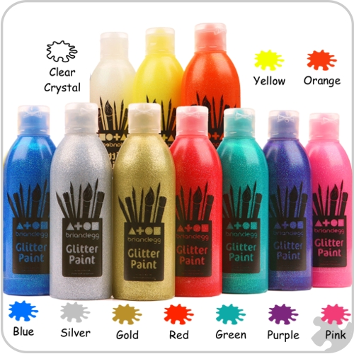 Glitter Paint 10 Assorted Colours