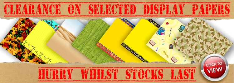 Clearance on display papers