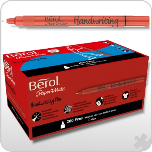Berol Handwriting Pens, 200 Black