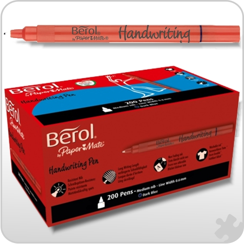 Berol Handwriting Pens, 200 Dark Blue