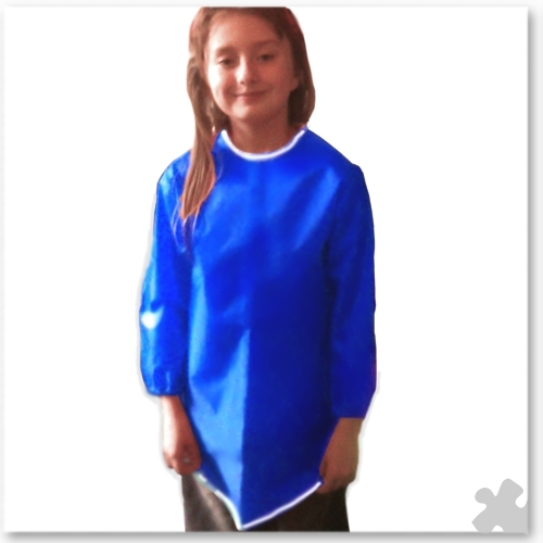 Childrens Apron in Blue Nylon, Ages 2-3