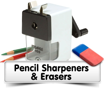 Pencil Sharpeners & Erasers