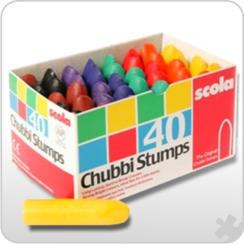 Chubbi Stumps Crayons, box of 40