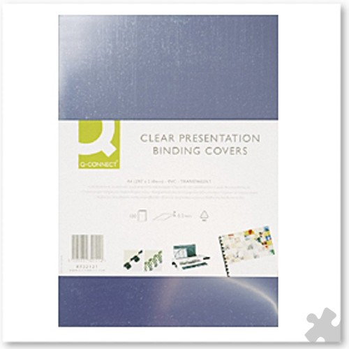 A4 Clear PVC Binding Covers, 150 Microns