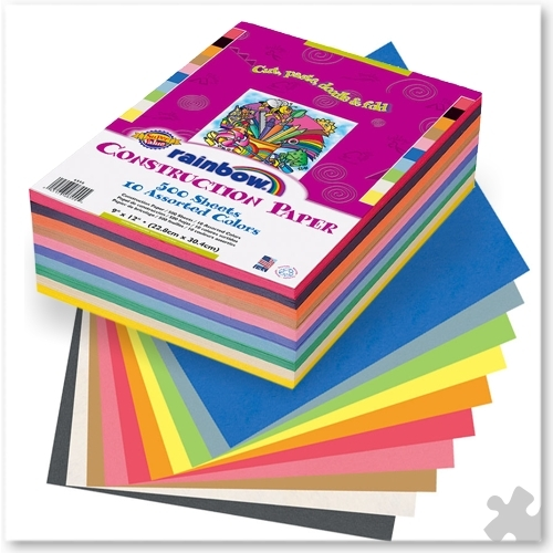 Construction Paper, 228mm x 305mm, Large Pack
