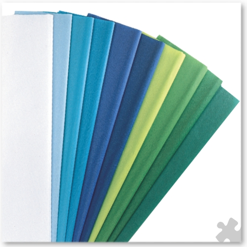 Tissue Paper in Cool Colours