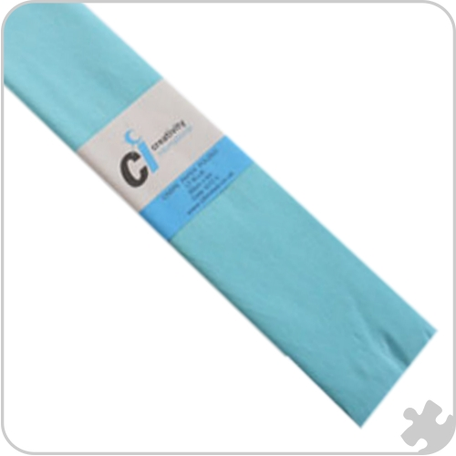Light Blue Crepe Paper, 10 x 3m Sheets