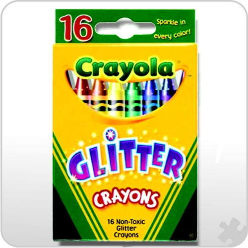 Crayola Glitter Crayons, 16 Pack