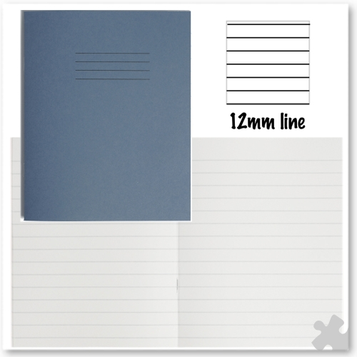 Dark Blue Exercise Books, 12mm Ruled, 48 pages