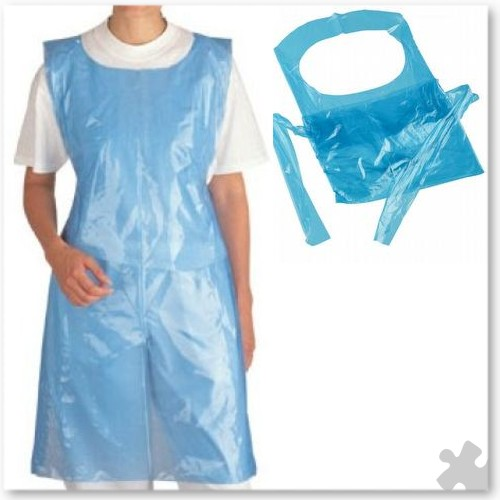 Adult Disposable Aprons, 200 Blue