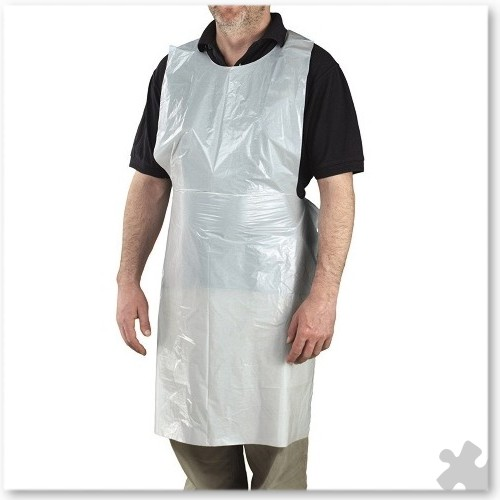 Adult Disposable Aprons, 200 White