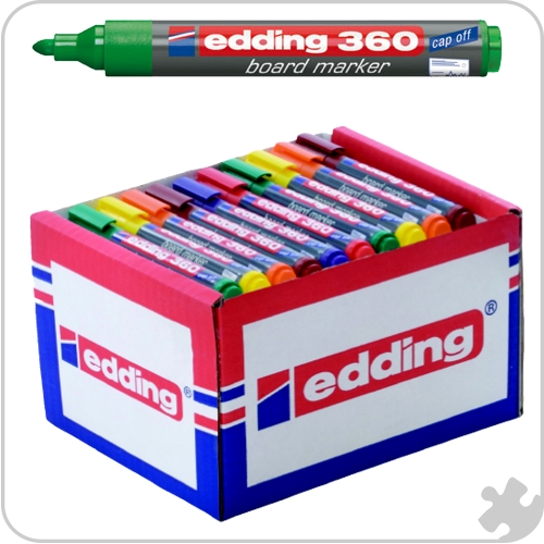 Edding 360 Bullet Tip Markers, 50 Assorted