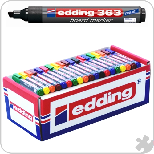 Edding 363 Chisel Tip Markers, 100 Assorted
