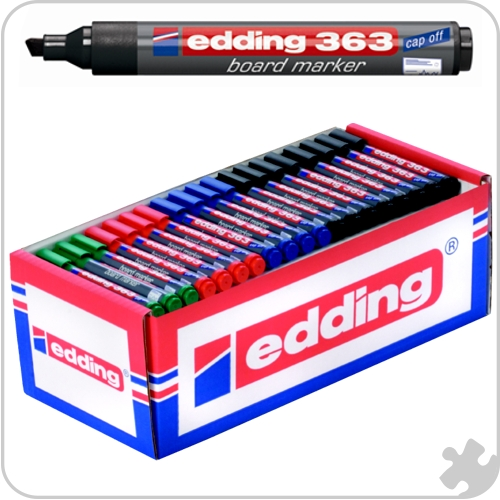 Edding 363 Chisel Tip Markers, 100 Standard Colours
