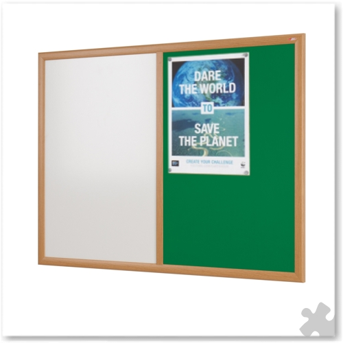 60 x 90cm Eco-Friendly Dual Noticeboard