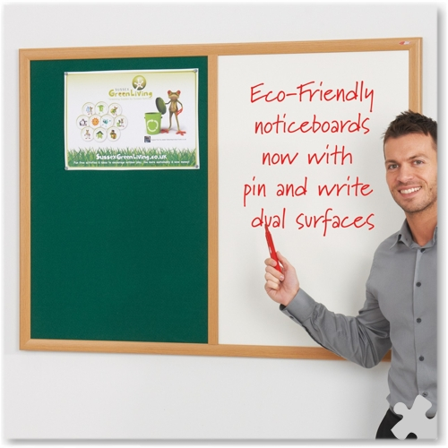 90 x 120cm Eco-Friendly Dual Noticeboard